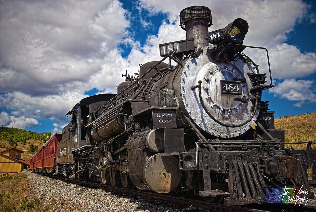 Ophir, Colorado.  At the Cumbres and Toltec railroad between Colorado and New Mexico in September, 2010