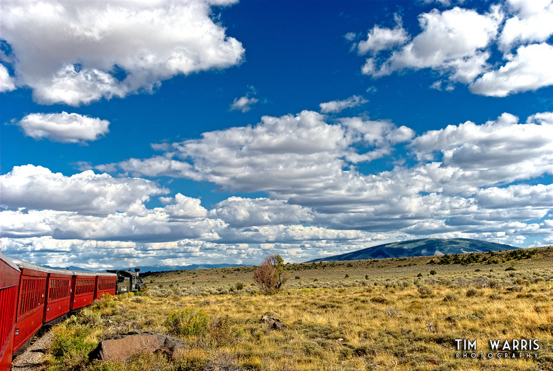 Aboard the Cumbres and Toltec railroad, between Chama, New Mexico and Antonito, Colorado.