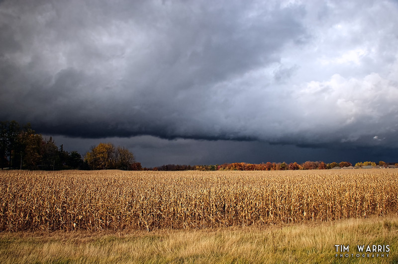 Storm front moving through Port Dover.  Shot from the side of Highway 6, mid afternoon when I was supposed to be working...