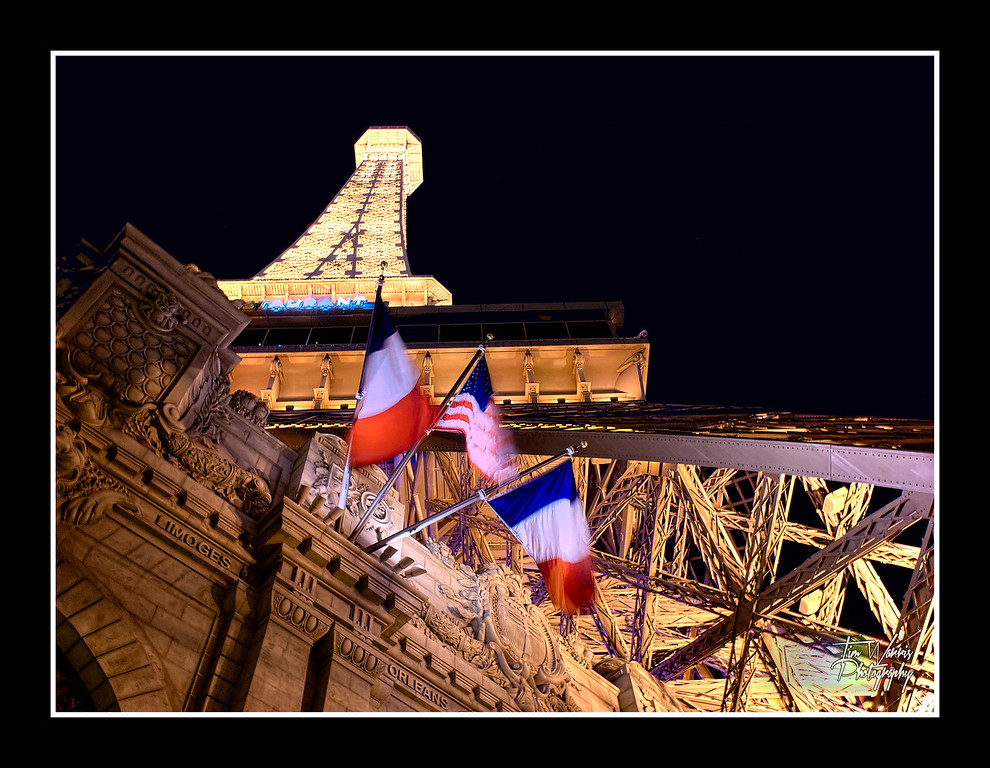 Paris, Las Vegas, at night