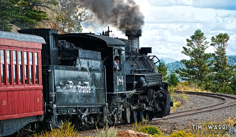Somewhere between Colorado and New Mexico on the Cumbres and Toltec scenic railway.