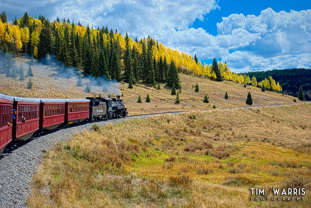 Another from colourful Colorado, on the Cumbres and Toltec.