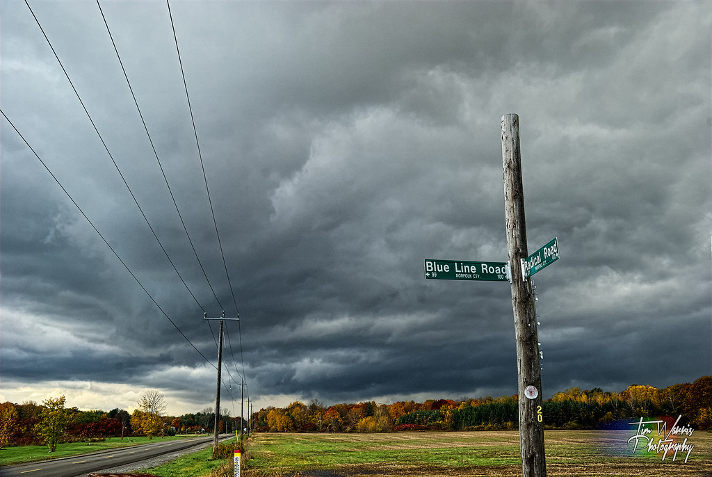 I think this is at the corner of Blue Line Road and Radical Road, if I remember correctly.  Yesterday afternoon.