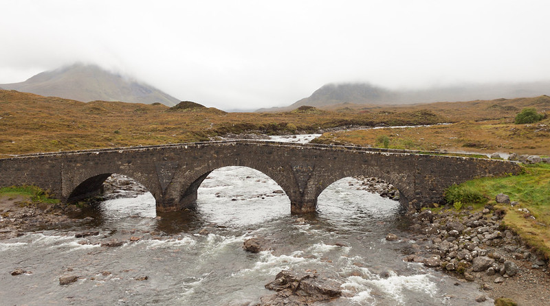 This picture was taken at a lovely place on the Isle of Skye in Scotland. I have no idea where exactly it was, all I remember is it was near one of the main roads (the photo was taken from a bridge nearby)