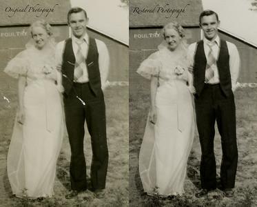 Photo Restoration of my great-grandparent's wedding day
