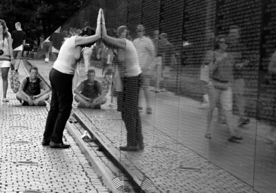 Weeping Widow at the Vietnam War Memorial
