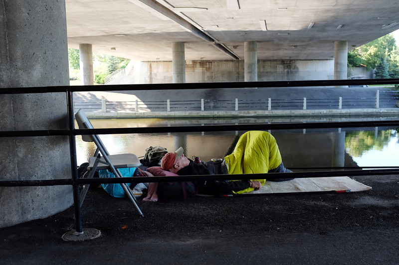 Ottawa Rideau Canal homeless series.