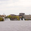 Rideau Falls divided by Green Island