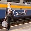 We rode the train from Ottawa to Toronto