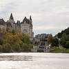 Locks of Rideau Canal and Chateau Laurier (Fairmont Hotel)