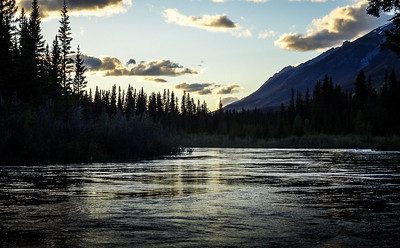 Bow River at Three Sisters Campground in Alberta