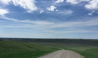 Rolling Hills in Grasslands National Park
