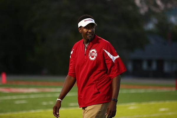 Ottumwa, Iowa September 15, 2017 -- Ottumwa High School football vs Des Moines Roosevelt. Photo by Dan L. Vander Beek