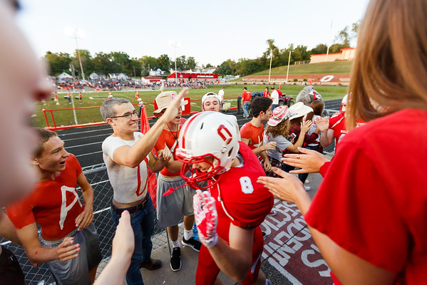 Ottumwa, Iowa September 02, 2016  -- Ottumwa High School football vs Indianola. Photo by Dan L. Vander Beek