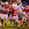Ottumwa, IA-- September 26, 2014<br /> Ottumwa high school football vs Muscatine. <br /> Courier photo by Dan L. Vander Beek