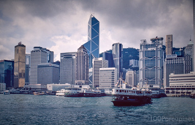 Hong Kong Island, CKC Half Built, Furama and Ritz Still Standing