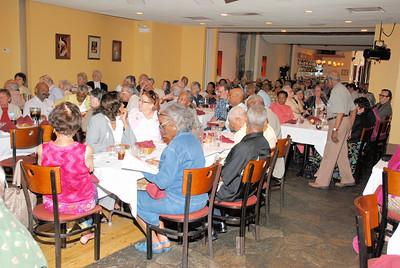Retirees enjoy lunch at the Parthenon