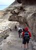Overhang on steep part of trail to Havasupai.