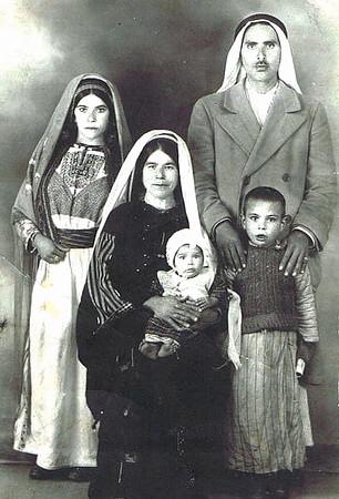 Awad family portrait 1946