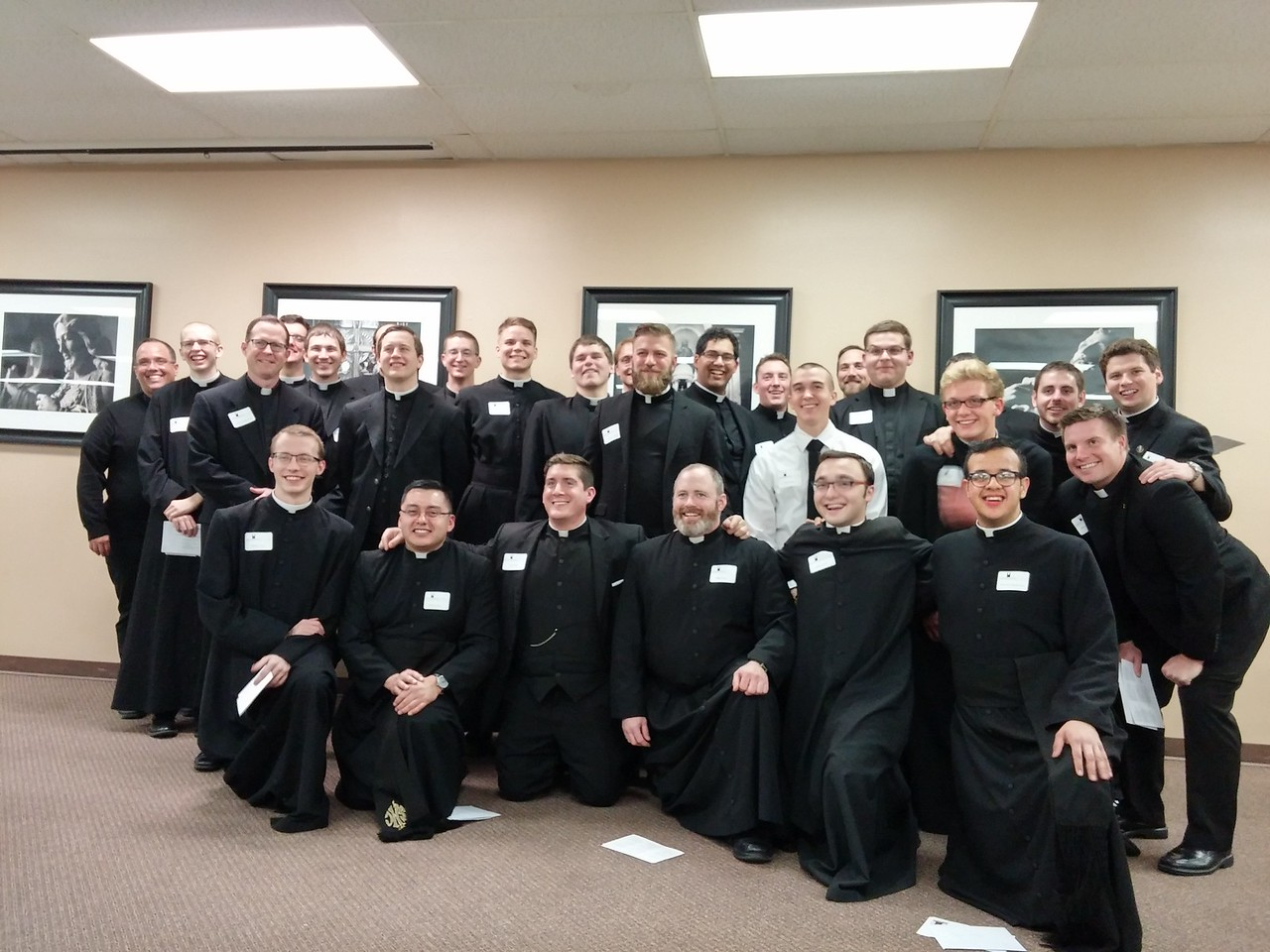 Here is a group shot of the seminarians at the annual Seminarian Christmas Party with Archbishop, Priests, and guests. This gathering is sponsored by the West Serra Club of Omaha.