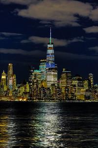 World Trade Center at Nightfall Portrait