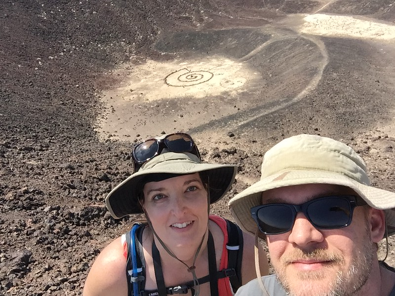 Us at Amboy Crater in California in April 2015.