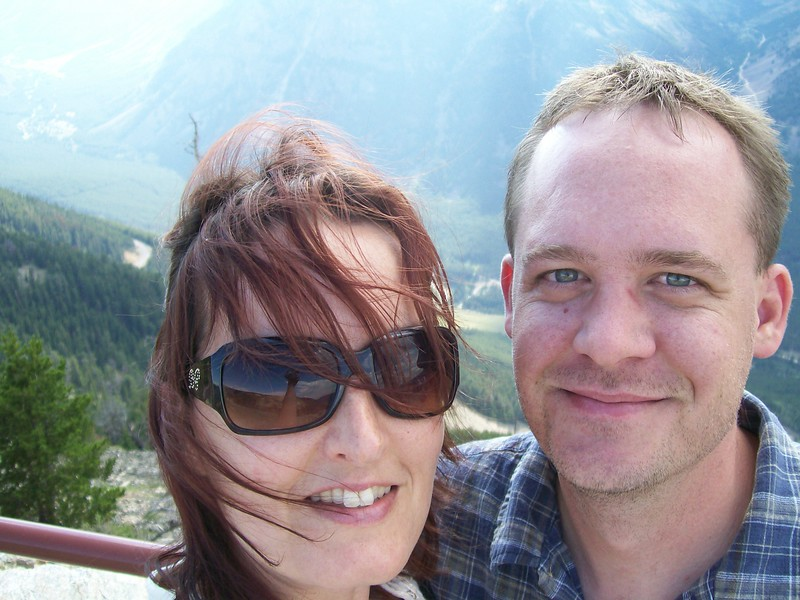 Us at Beartooth Pass on the Wyoming and Montana border in 2007.