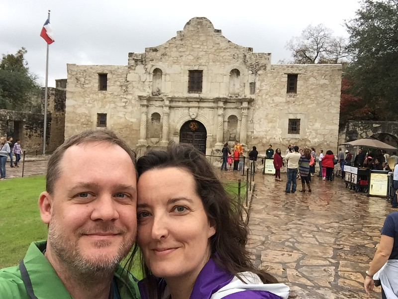 Us in front of The Alamo.