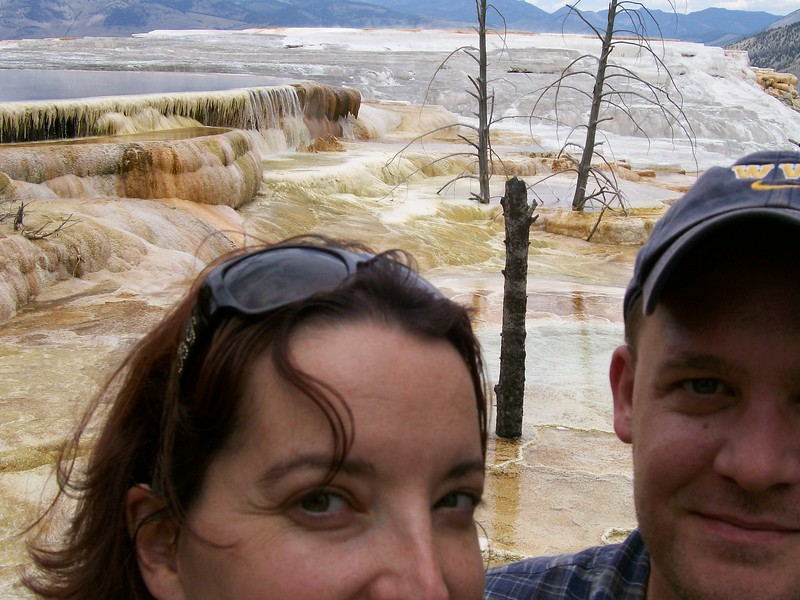Us in Yellowstone in 2007.