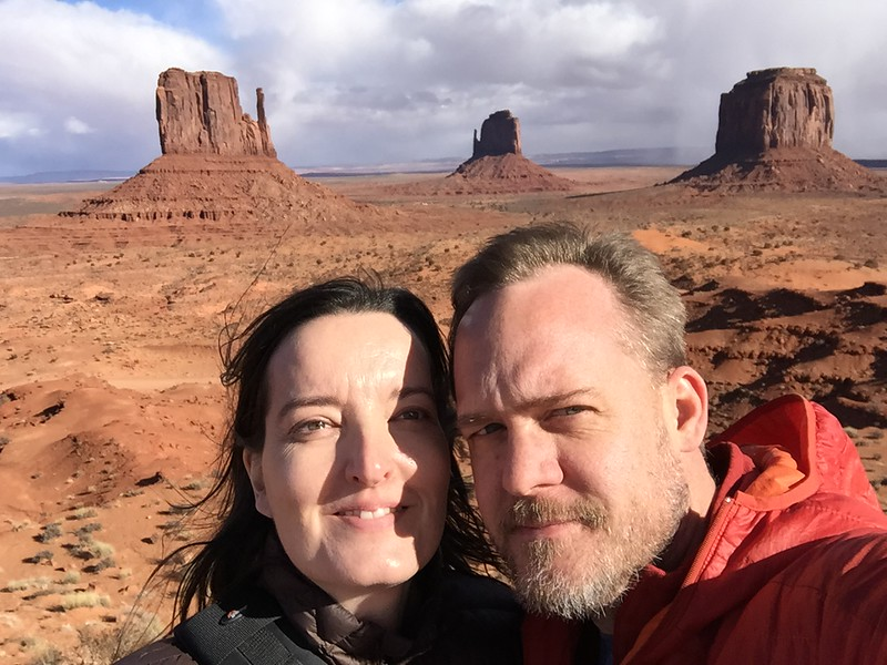 Us in Monument Valley, Arizona in December 2014.