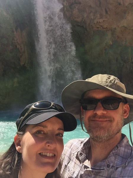 Us at Havasu Falls