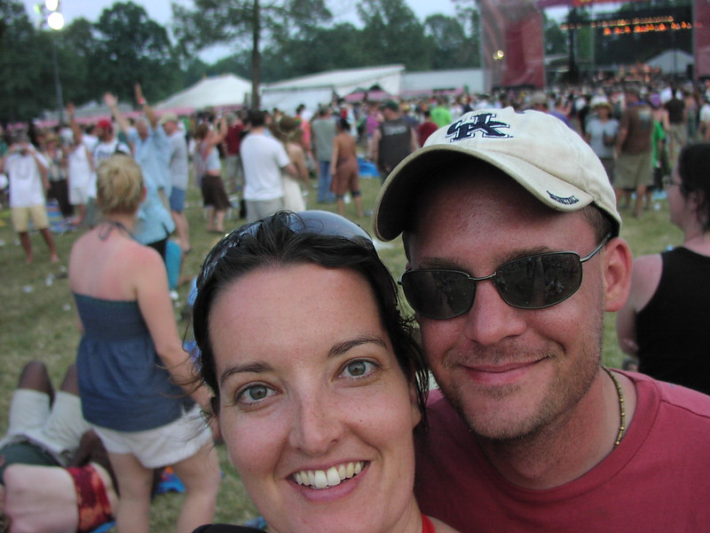 Us at Bonnaroo in 2006.