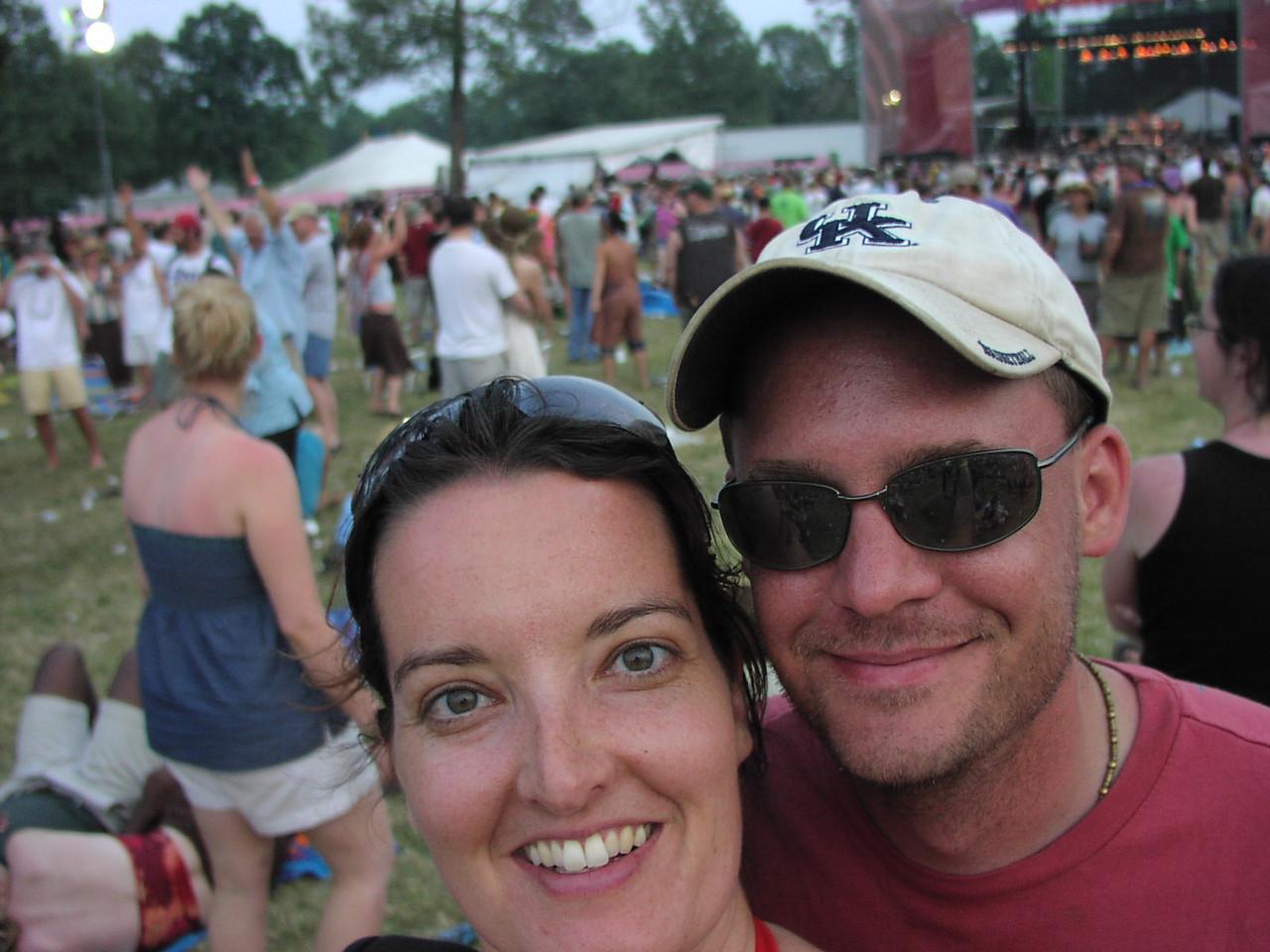Us at Bonnaroo in 2006.