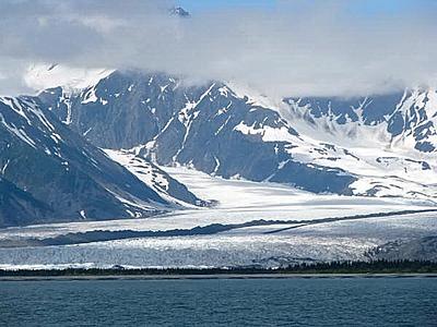 Scenic Mountain Range in Alaska