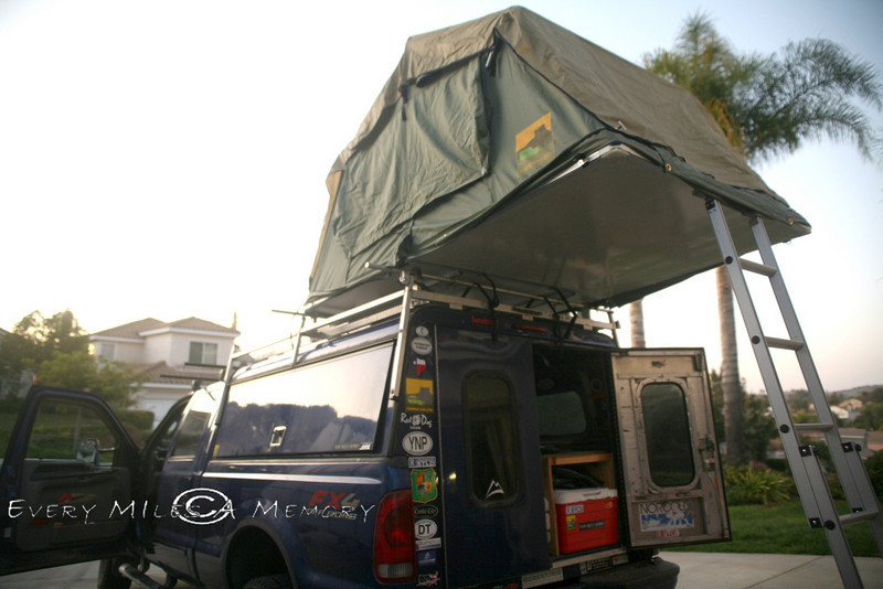 Moving The Camping Lab Roof Top Tent Over Back Of Truck
