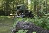 Camped in the woods in Upper Michigan - U P  Overland 2010 - Photo by Pat Bonish
