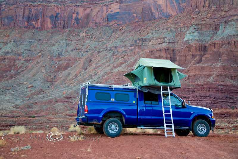 Camped in the Red Rock Wilderness with our Camping Lab Roof Top Tent - Photo by Pat Bonish