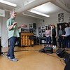 Mark Hoover rehearses with the Onions