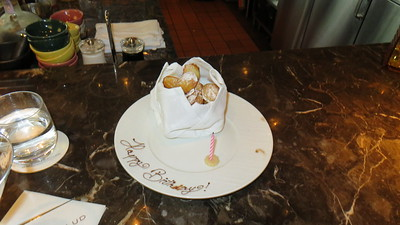 A mini madeleine surprise at the Ritz-Carlton