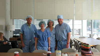 We are ready to tour the state of the art new installations of the Jewish General Operating Rooms