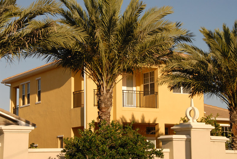 Since these homes skirt very close to Bayshore blvd, a sense of privacy is given with the massive use of palm trees.