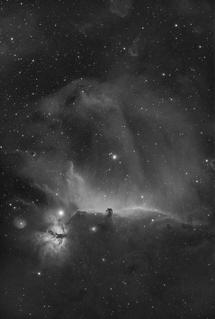 Horsehead and Flame Nebula H-alpha