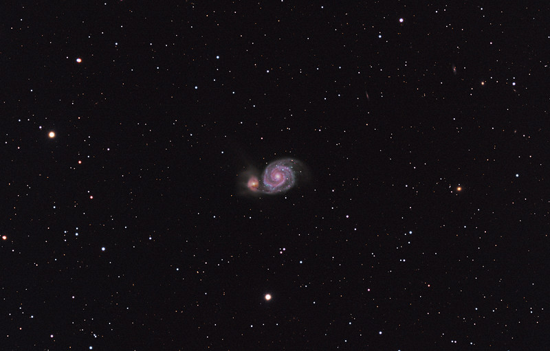 m51 The Whirlpool Galaxy