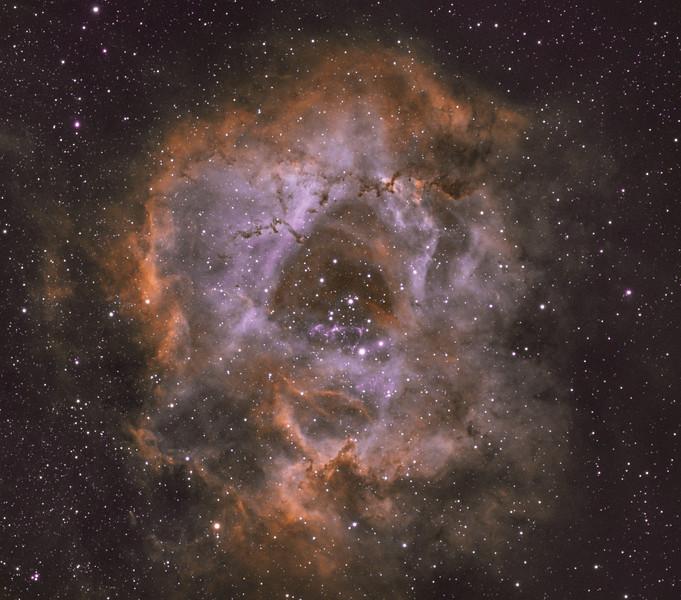 Rosette Nebula HOO
