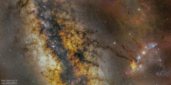 Milky Way Core Region, nebulosity edit