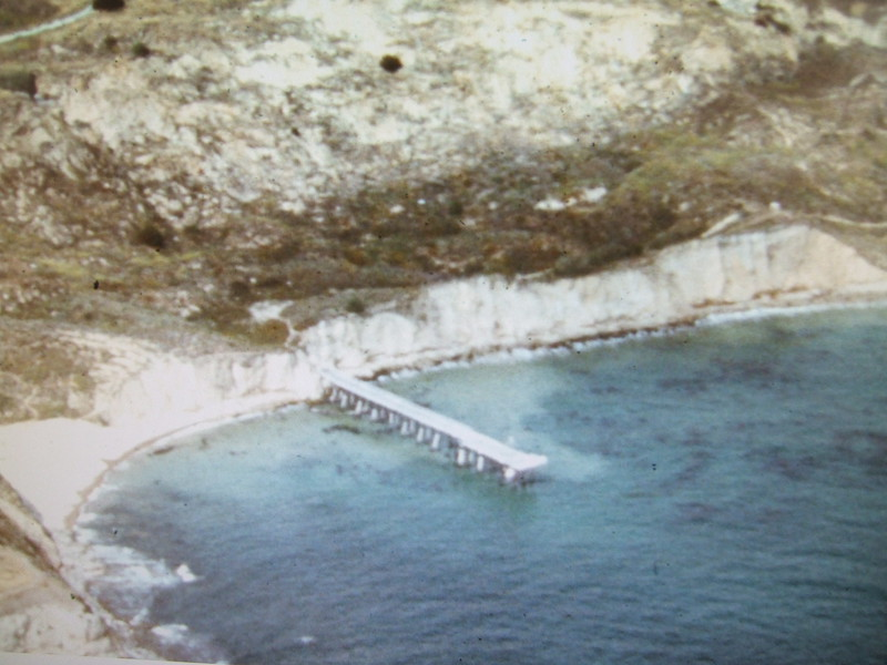 Pier that was once at the archery range in Palos Verdes.
