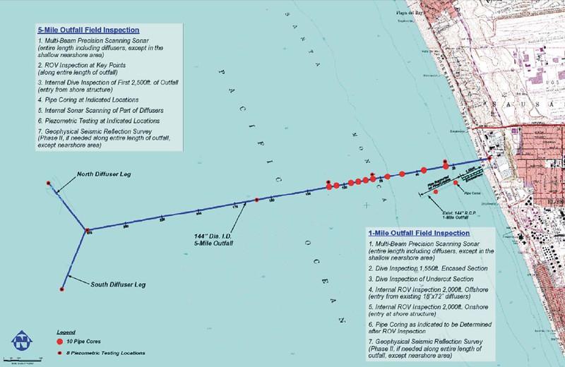 Hyperion outfall pipes map<br /> El Segundo, California