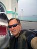 Phil and my drysuit on Manhattan Beach Pier