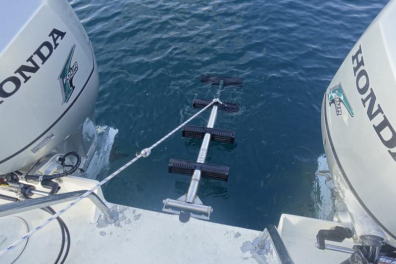 New ladder bracket and modification by Shutts Fabricators