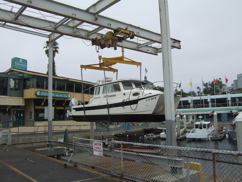 2011-09-13<br /> approximate date<br /> At the Redondo Beach hoist for a lower gear oil change